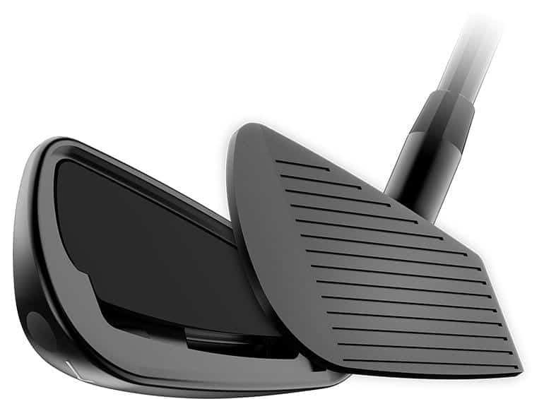 Picutre of the TEC cavity on the Cobra King Forged TEC Iron Black