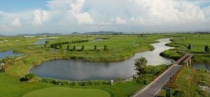 Overhead shot of gunsan country club in south korea