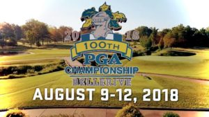 2018 PGA Championship Logo at Bellerive in North Carolina
