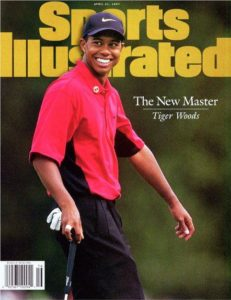 Sports Illustrated magazine with Tiger Woods on the cover after his 1997 Masters Victory