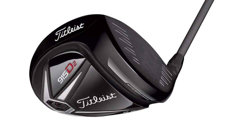 Titleist 915 D2 Driver with white background for what's in Jordan Spieth's Bag.