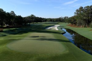 12th hole overview at TPC Sawgrass where the Players Championship is played