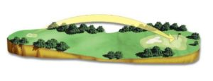 A computer generated layout of hole 6 at the Masters, played at Augusta National Golf Club in Augusta, GA.