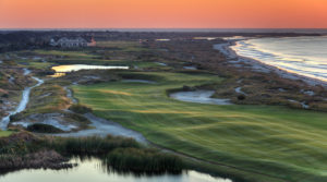 Aerial view of the Ocean Course at Kiawah Island Golf Resort