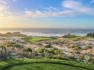 Spyglass Hill Golf Course in Pebble Beach, California overlooking the Pacific Ocean
