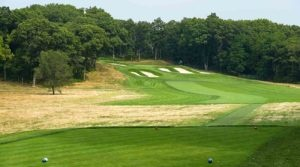 A scenic view of the 15th hole the Bethpage Black Course