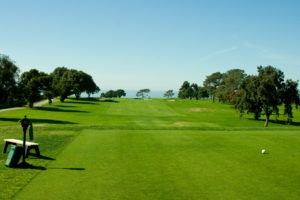 Tee shot view of the 12th hole at Torrey Pines in San Diego, California