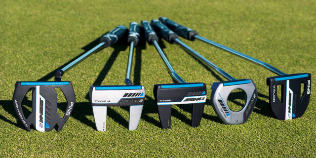 PING Sigma 2 Valor 400 Putter alongisde several PING mallet putters for 2019